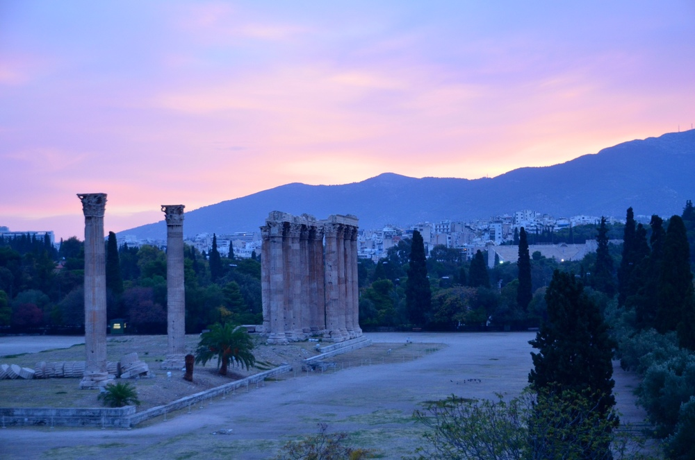 Dawn over the Temple of Zeus