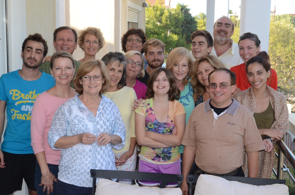 The team with Argyris and Dina and their family in Athens.