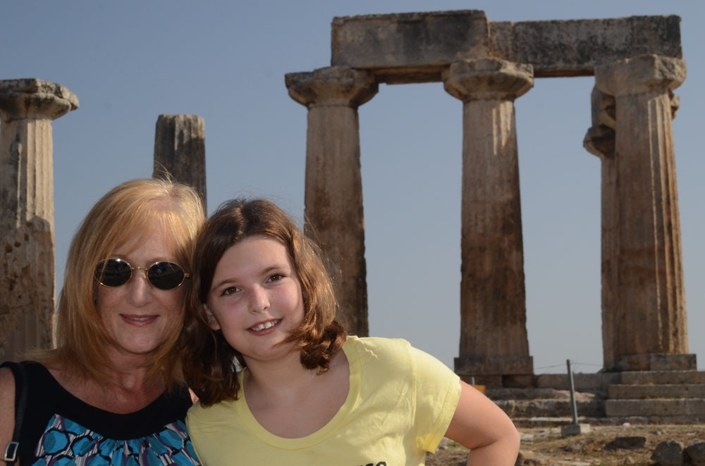 Vicki and Marla in ancient Corinth
