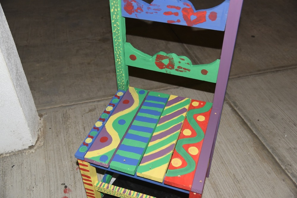 One of the finished chairs that remained at Casa Hogar.