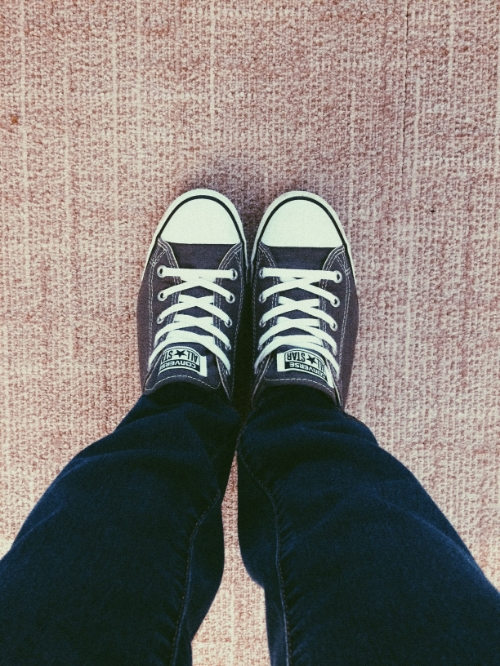 When Tuesday feels like a Monday but you're ready for it to be a Friday.  Wear Chucks.  Comfy, cute, practical, and oh so fashionably diverse. Wear with a dress to give it a sporty kick, with jeans to give a chill vibe, or with leggings to continue the laid back vibe,  I absolutely love my Chucks, They are my fall back and go-to pair.  They also happen to be pretty lucky I guess because today I just so happened to be the winner of a Private Shopping Party with Fab'rik!! Ah so excited, I've never won a raffle or anything like this before! I cannot wait to drink champagne and shop 20% off with some great friends! Friends and shopping?! What could be better!?  I'll be sure to post the many, oh-so beautiful outfits I pick out at my shopping party ;)  Gotta love Chucks.  Love, Chuck.