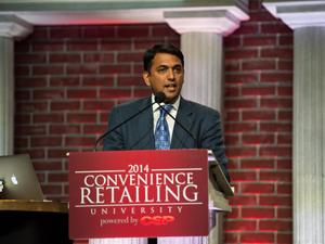 CRU Awards 2014: Designing a Store; Building a Brand Published in CSP Daily News By Steve Holtz, Online News Director & Beverage Editor  Varish Goyal of A.U. Energy thanks his team while accepting CSP's Convenience Retailing Award of Excellence for store design.