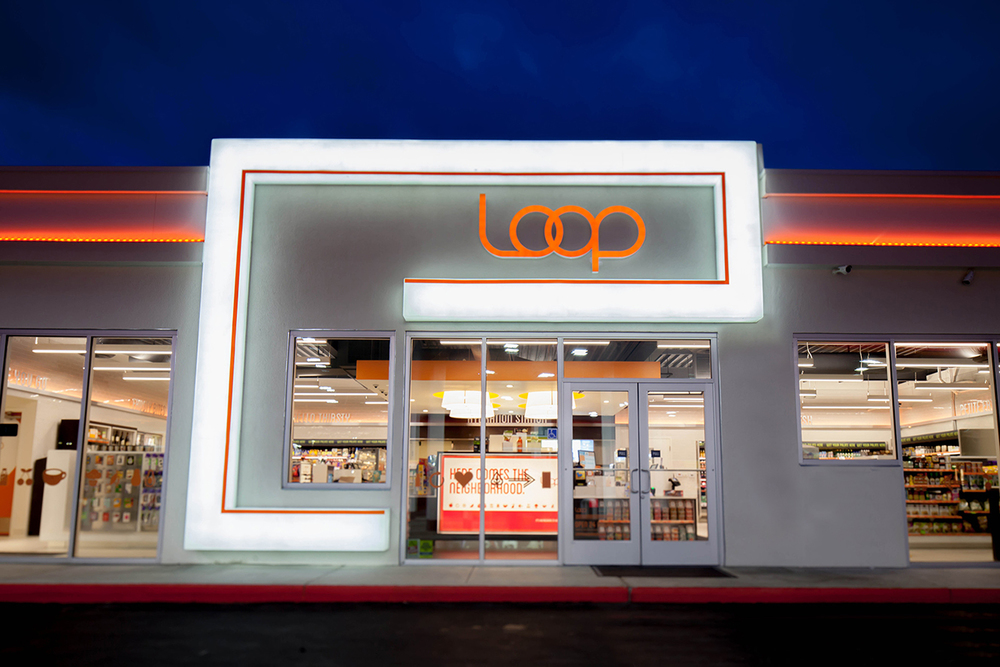 Loop msa architecture design for Convenience store exterior design