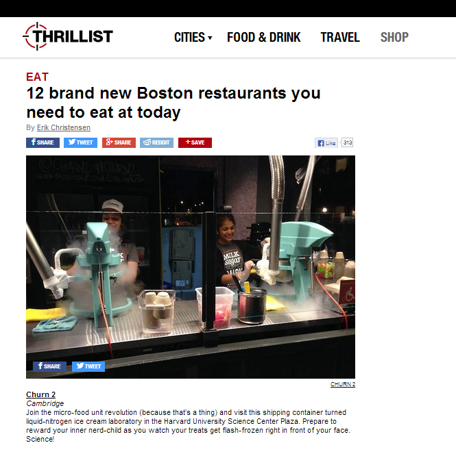 Thrillist |  12 brand new Boston restaurants you need to eat at today