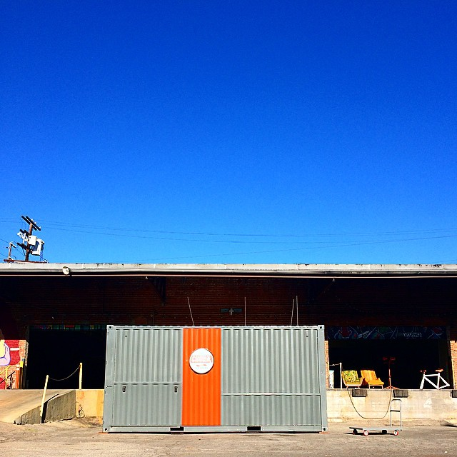 #churn2 has arrived in #LA @thecontaineryard !! Thank you for another great #boston summer! #dtla #losangeles #thecontaineryard #comingsoon #wip #cargoporn #containerporn #shippingcontainer #popup #design #create #innovate #inspire