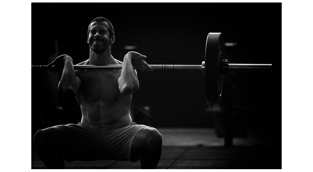 Gonçalo Barriga-CrossFit athlete with barbell