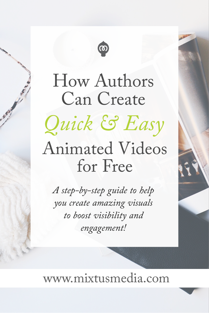 Video and animated video is a great way to boost an author's visibility and audience online. Here's a step-by-step tutorial on how to create amazing animated videos for free!