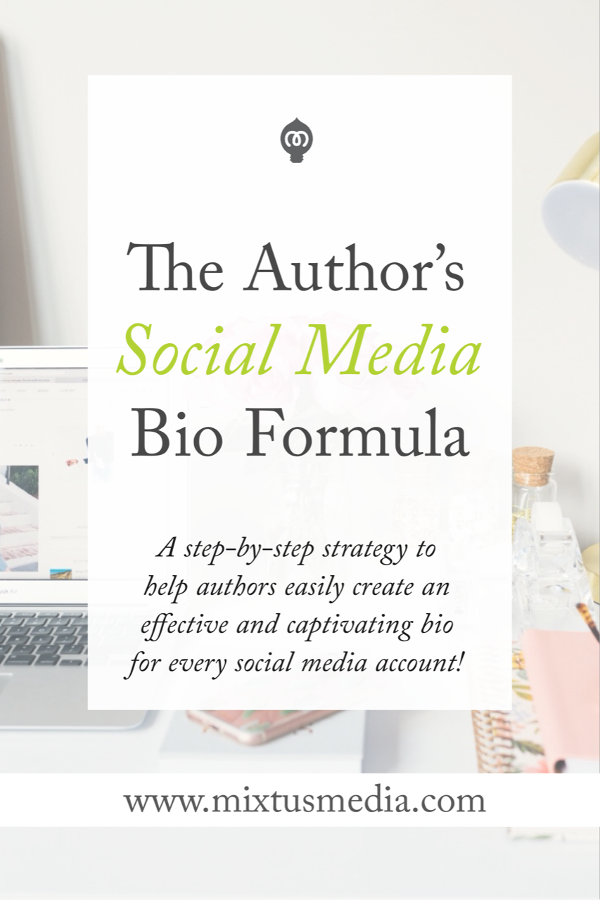 An author social media bio is often the first impression visitors have. Here is the step-by-step formula to help authors create a powerful and effective social media bio!