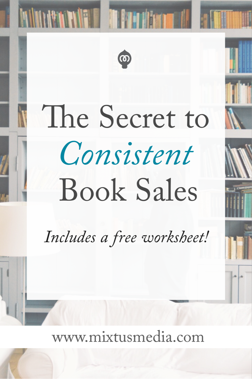 The secret that authors need to know to apply to their book marketing for consistent sales. Plus you get a free worksheet to help you maximize your sales!