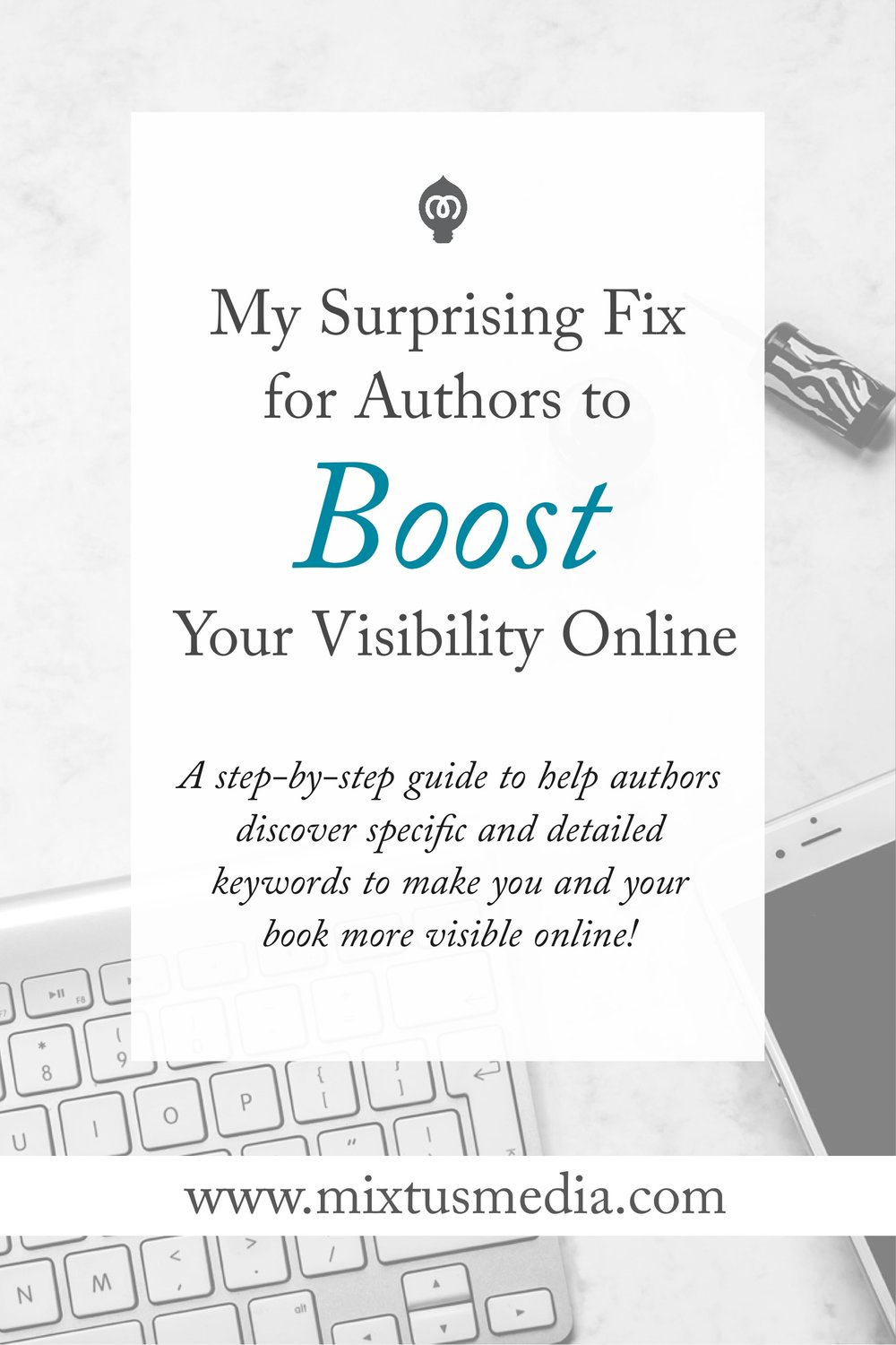 A step-by-step guide to help authors discover specific and detailed keywords to make you and your book more visible online!