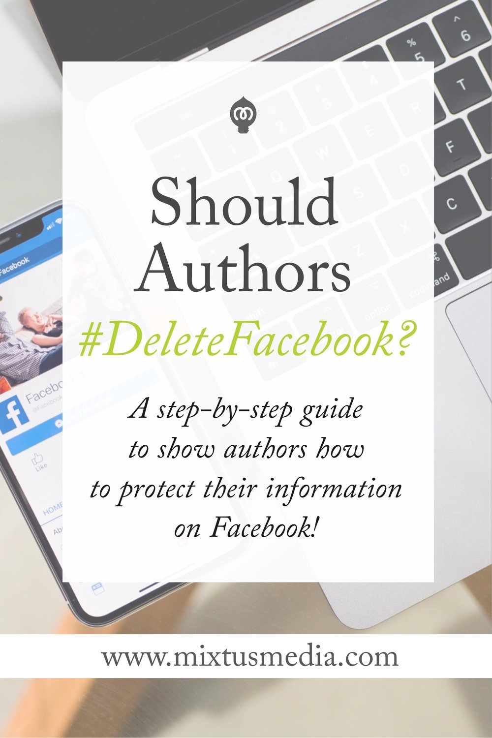 A step-by-step guide to show authors how to protect their information on Facebook!