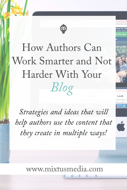 Strategies and ideas that will hep authors use the content that they create in multiple ways.