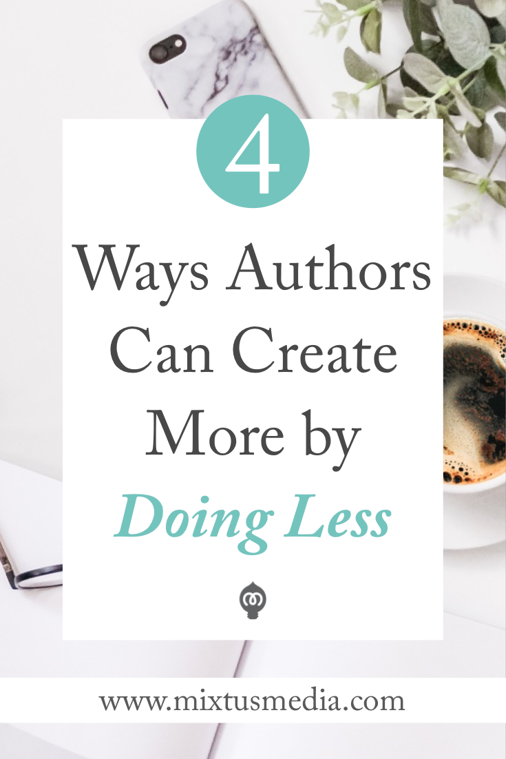 Authors can accomplish more with their book marketing by  working smarter and not harder with their content. Here I share four ways authors can apply this to their marketing to save time and see bigger results. Book marketing tips, book marketing strategies, authors, book promotions, author blogs, author blog content ideas, book publishing tips, book publishing, self publishing tips, book publishing strategies