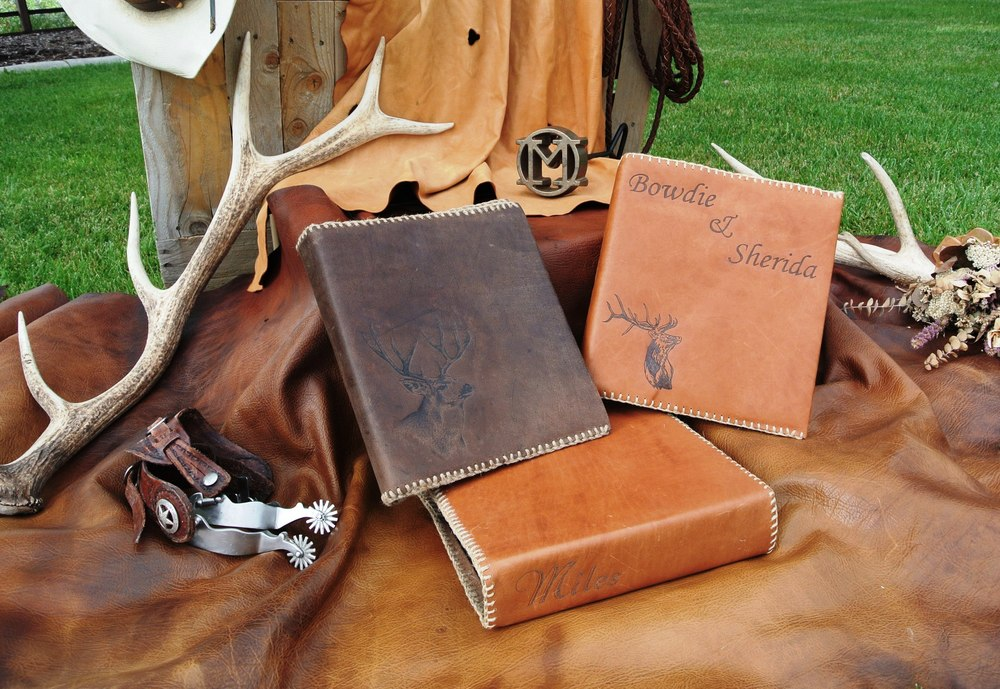 Custom Handmade Leather Book & Binder Covers  from $85 & Custom