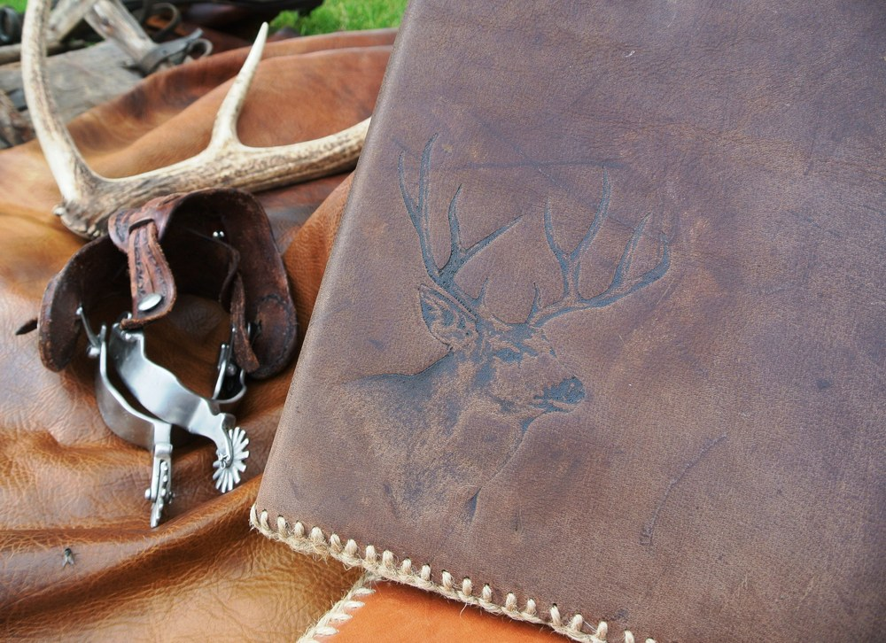 Circle M-Brand heat engraving Buck.JPG