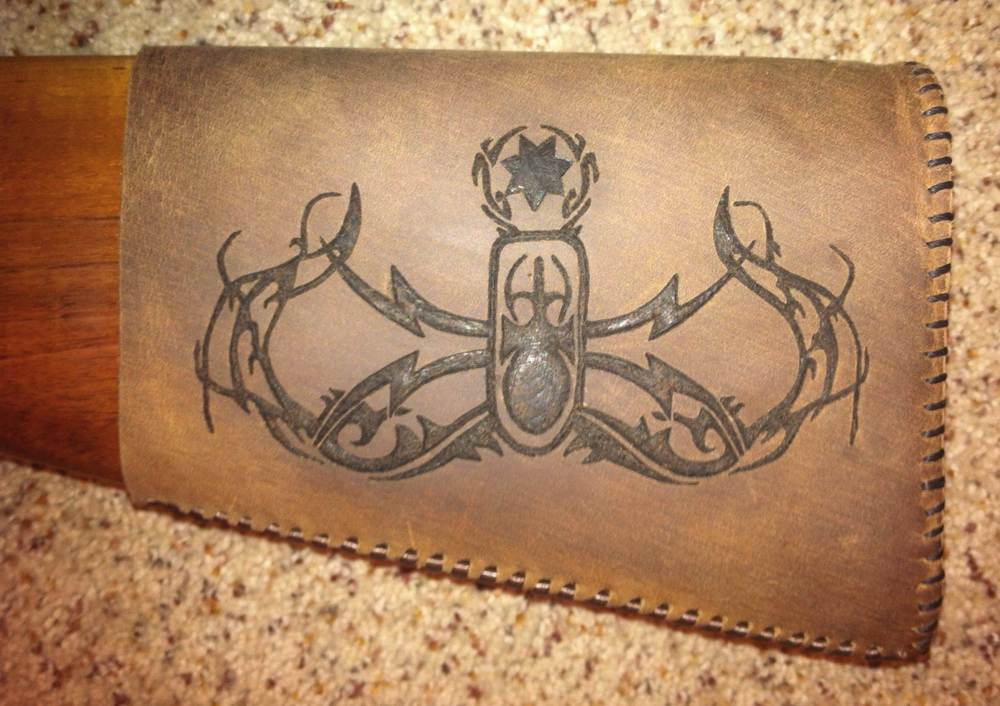 Circle M-Brand heat engraving EOD crab.jpg