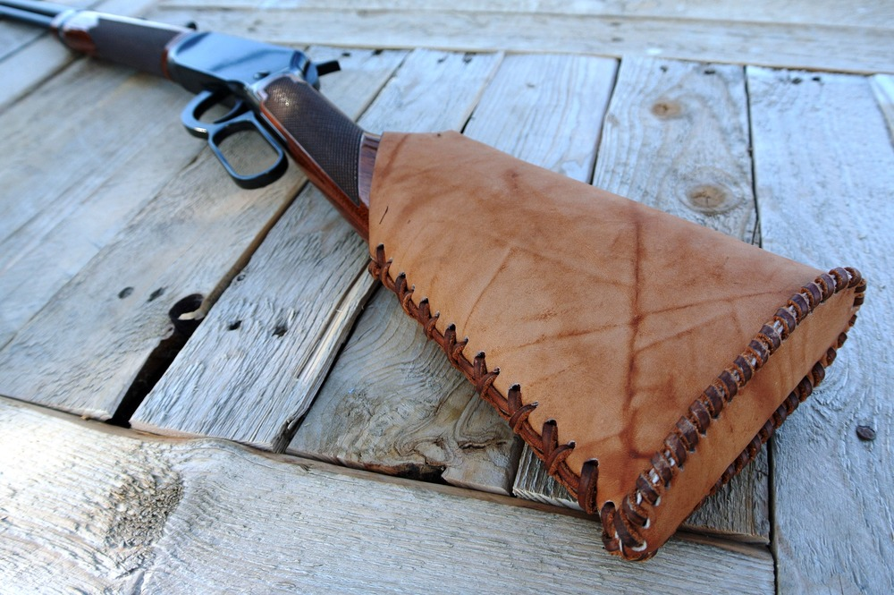 Circle M Brand - .22 magnum Leather Buttstock cover.JPG