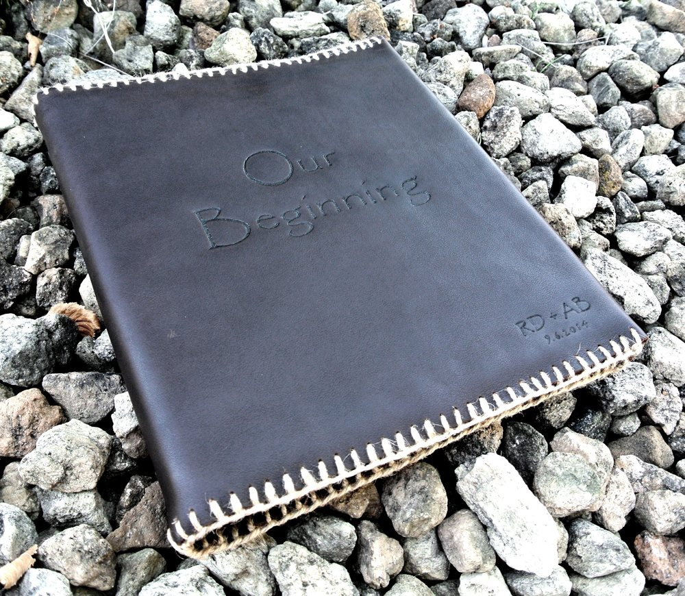 Circle M Brand - Custom Leather Binder Cover - memories.JPG