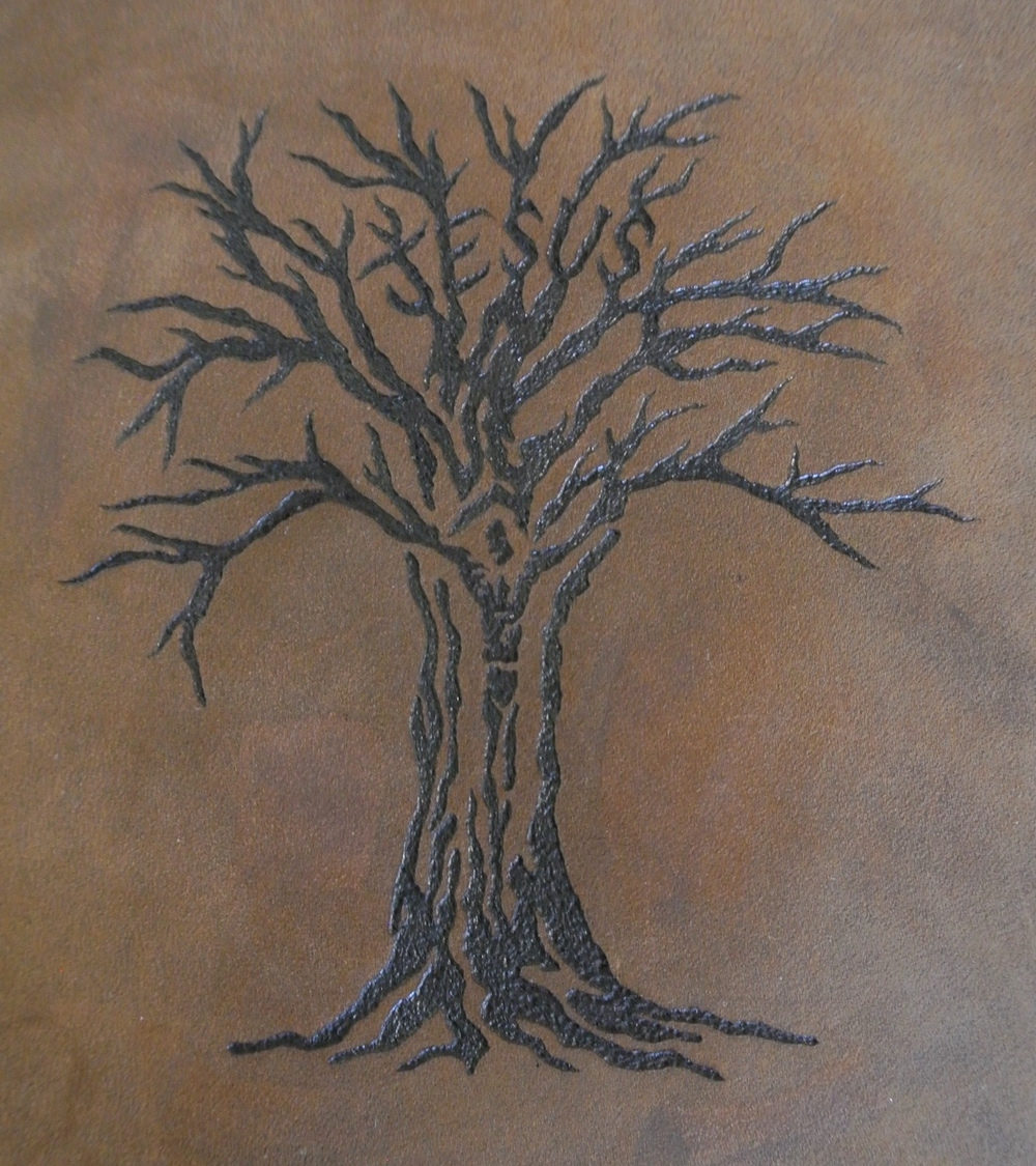 Circle M Brand - Customer requested Heat Engraving 'Jesus Tree'.JPG