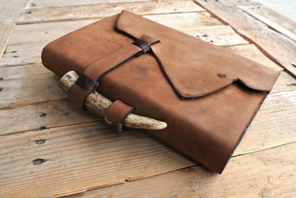 Circle M Brand - NIV Bible - custom handmade with antler.JPG