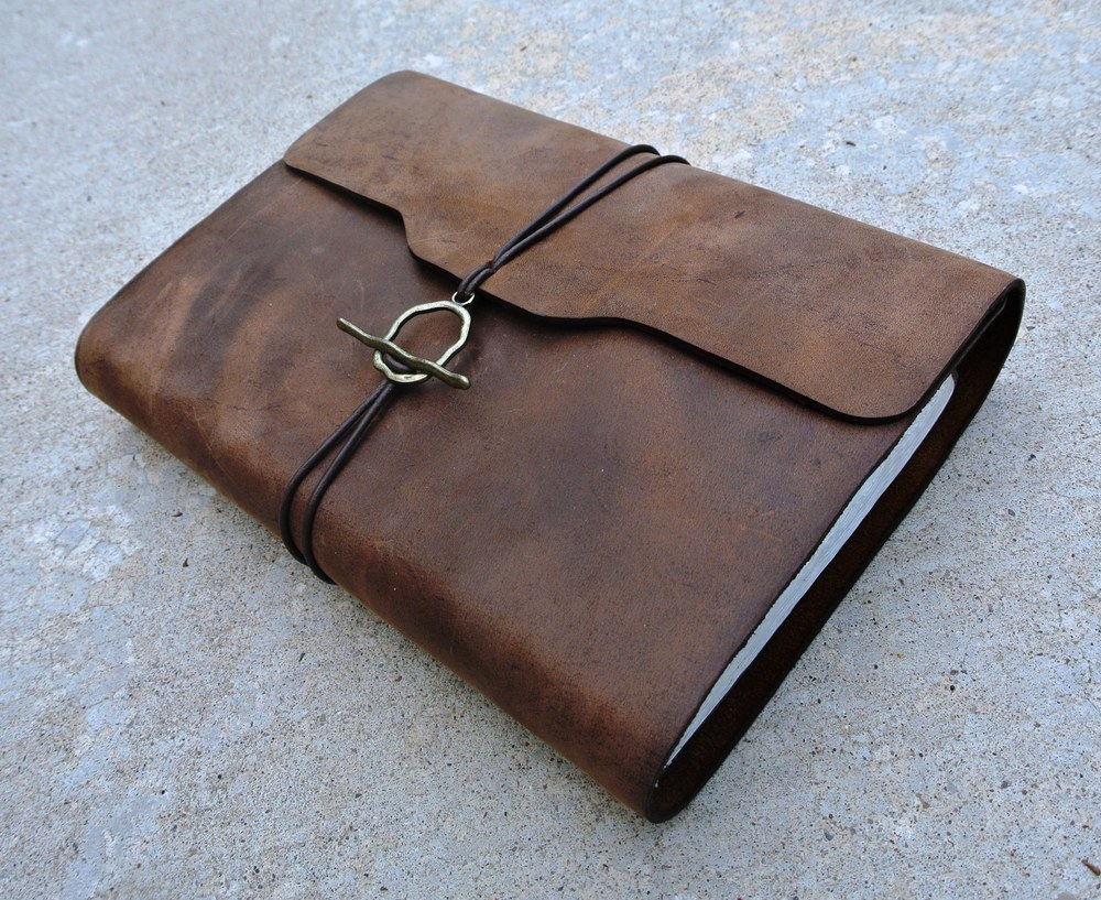 Circle M Brand - custom re-bound leather Bible.JPG