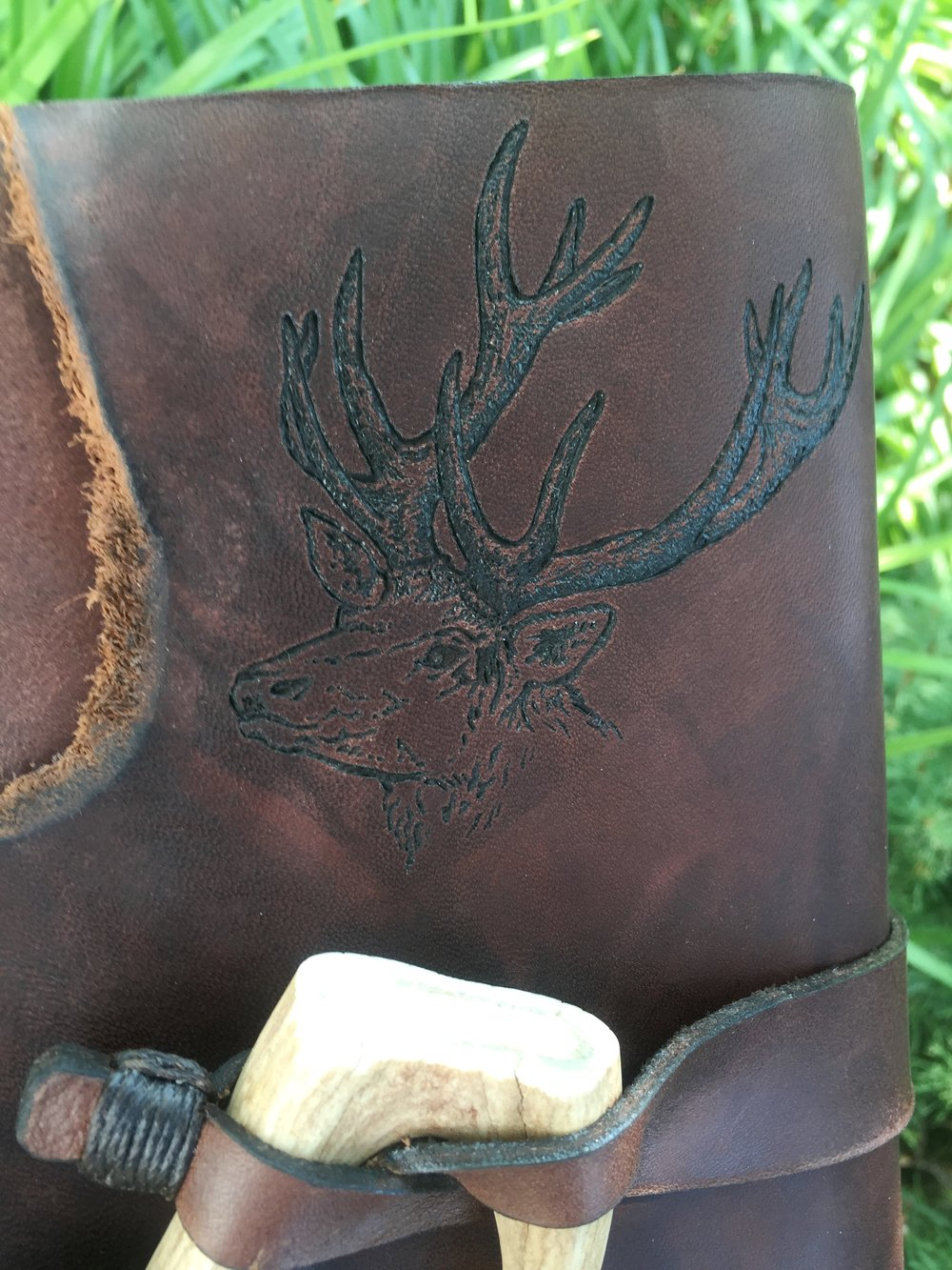 Circle M Brand - Elk engraved with Antler.JPG