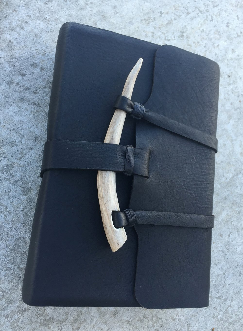 Circle M Brand - LDS large Quad Scriptures with Antler and black leather.JPG