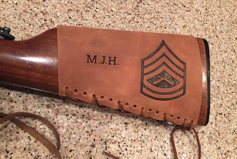Circle M Brand - Gunnery Sergeant Rank and Initials heat engraving (2).JPG