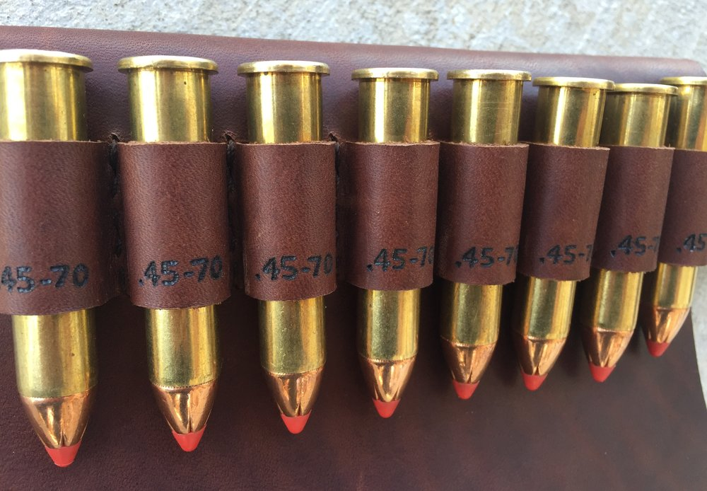 Circle M Brand - heat engraving .45-70 onto ammo loops.JPG
