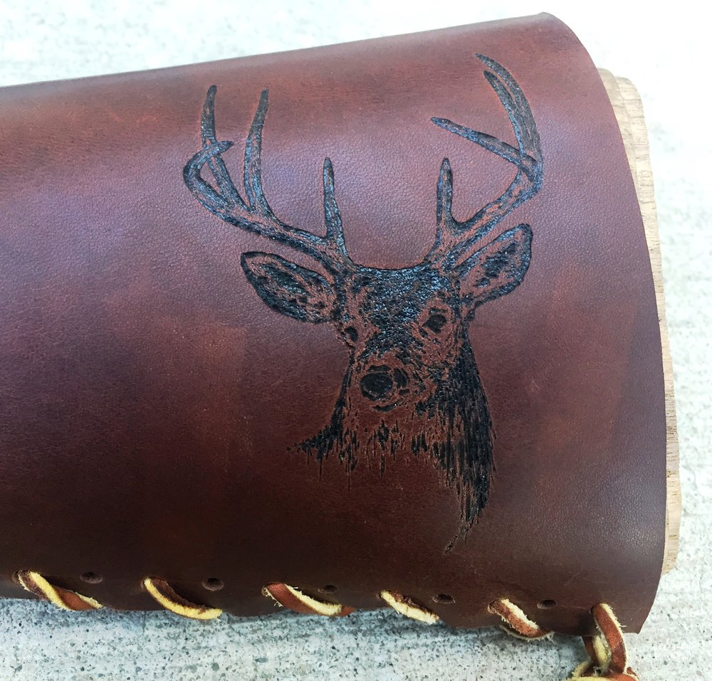 Circle M Brand - Whitetail Deer heat engraving.JPG