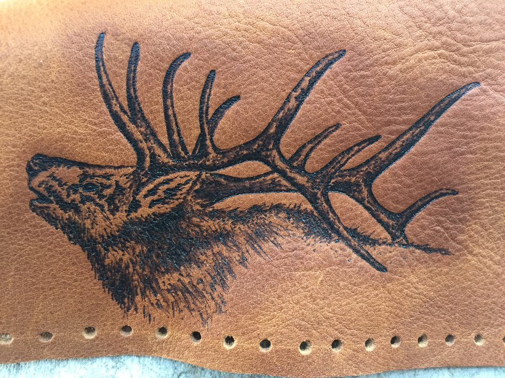 Circle M Brand - leather ELK Pyrography.JPG