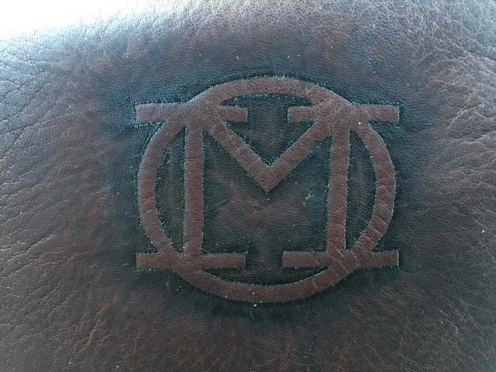 Circle M Brand - leather Pyrography brand by hand.JPG