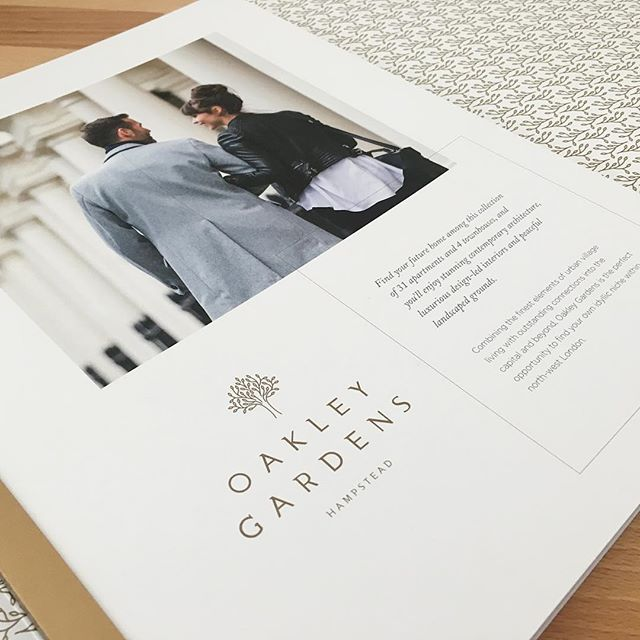 Just had a sneak peek at a finished brochure I designed back in August #newwork #property #residential #brochure #design