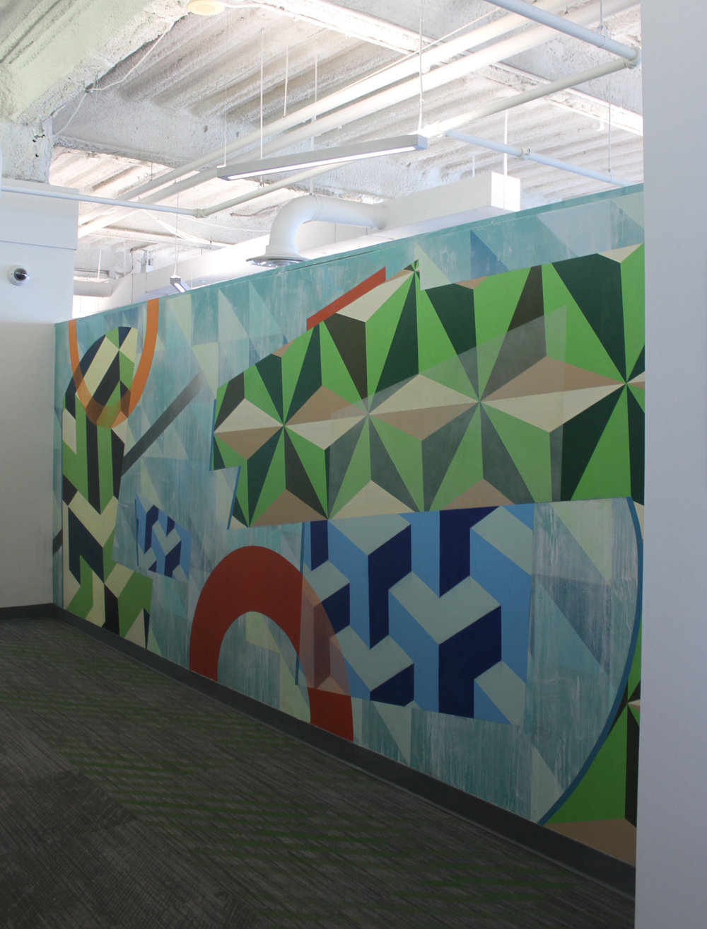 AMAZON.COM CORPORATE OFFICES MURAL No. 1, DETROIT - 2016