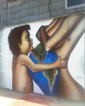 Mural by  Lisete Alcalde