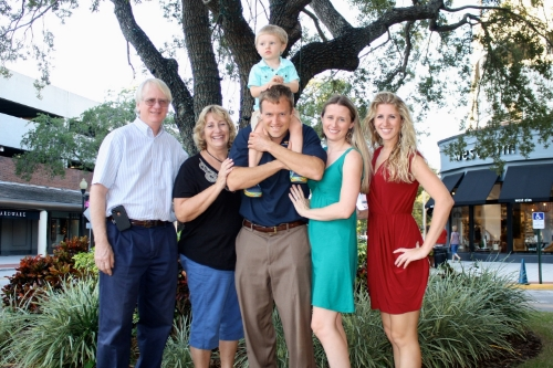 The O'Kane / Laflin Clan in Tampa's Hyde Park (That's me on the right!)