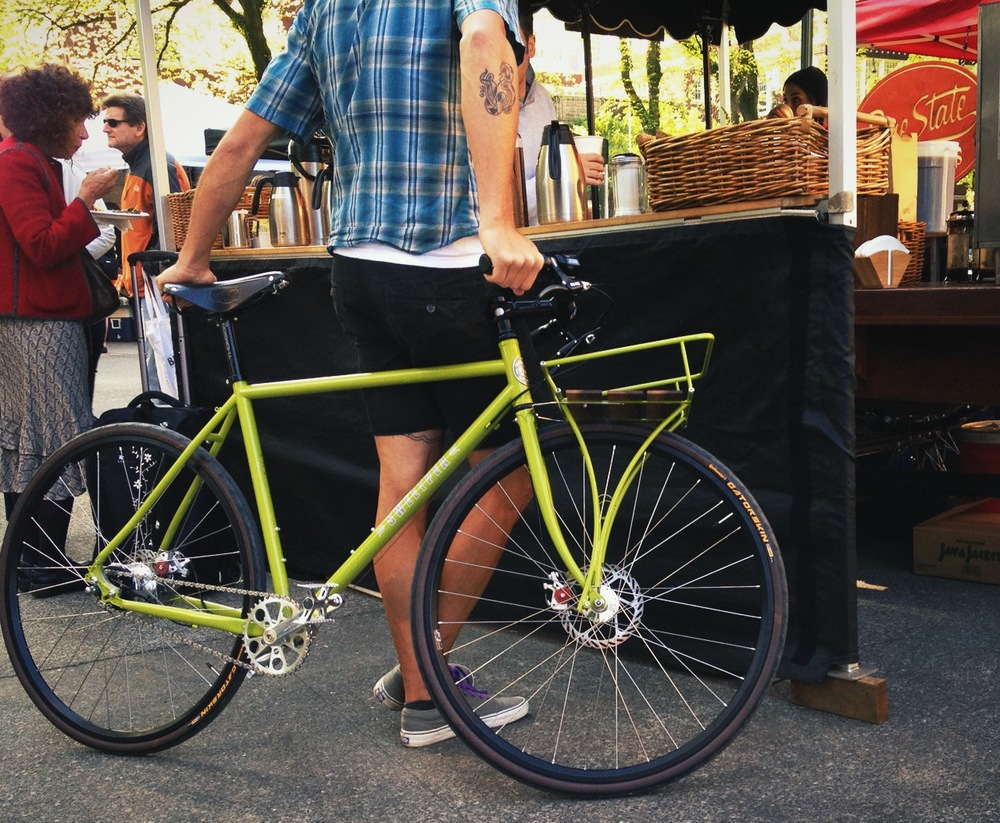 The Farmers Market. A bike with the soul of a pickup truck. Meant for gettin' shit done, lugging around veggies, and having a few beers with the girls on the weekends. Makes it even easier to leave the car at home.