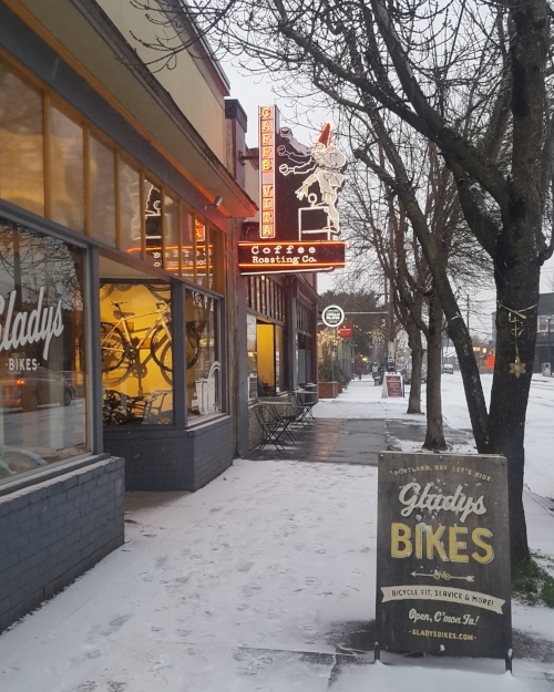 As the snow turns to freezing rain and the streets turn to ice, we're closing up shop early today. Stay safe and cozy out there! (Back to normal hours tomorrow.)