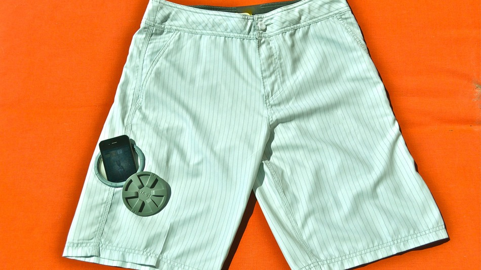 6.  Buy shorts that have a secret waterproof pocket.  Not sure they make them big enough for an iPad!