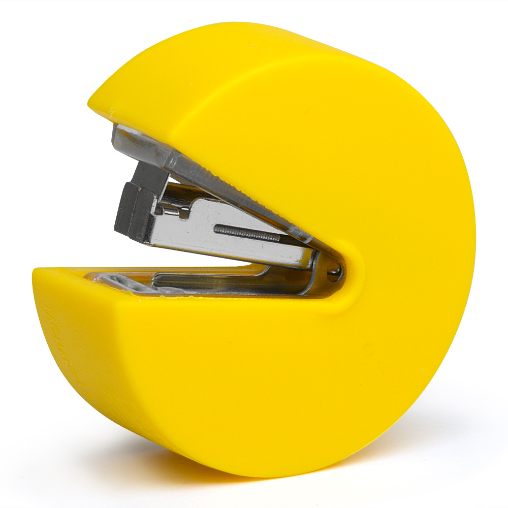 4.  Do college kids even hand in hard-copy papers anymore?  Who cares!  You need this PacMan stapler.