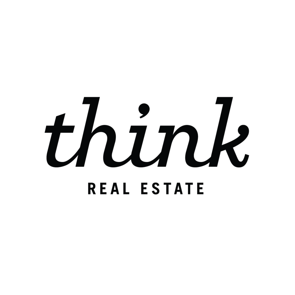 Think Real Estate logo by Mark Mularz, Flip Design