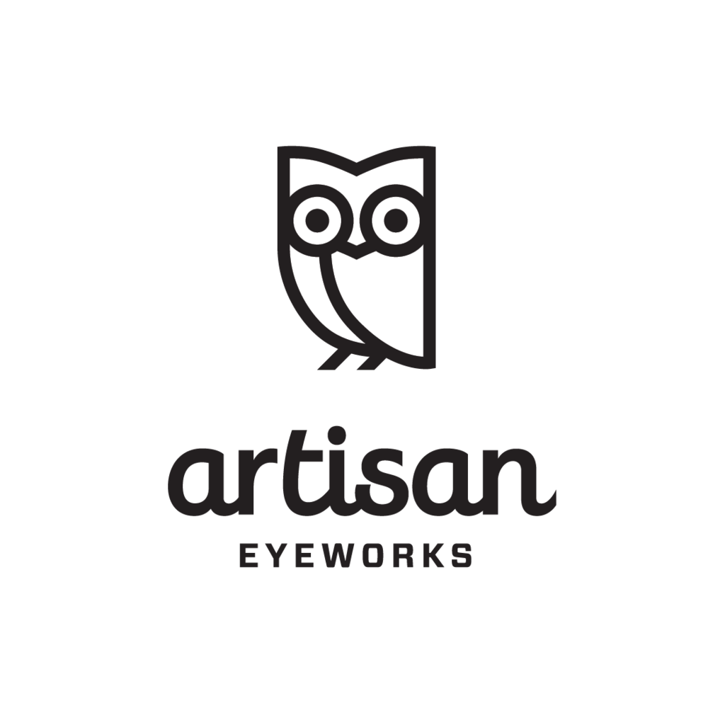 Artisan Eyeworks of Ashland, Oregon logo by Mark Mularz, Fetch Design