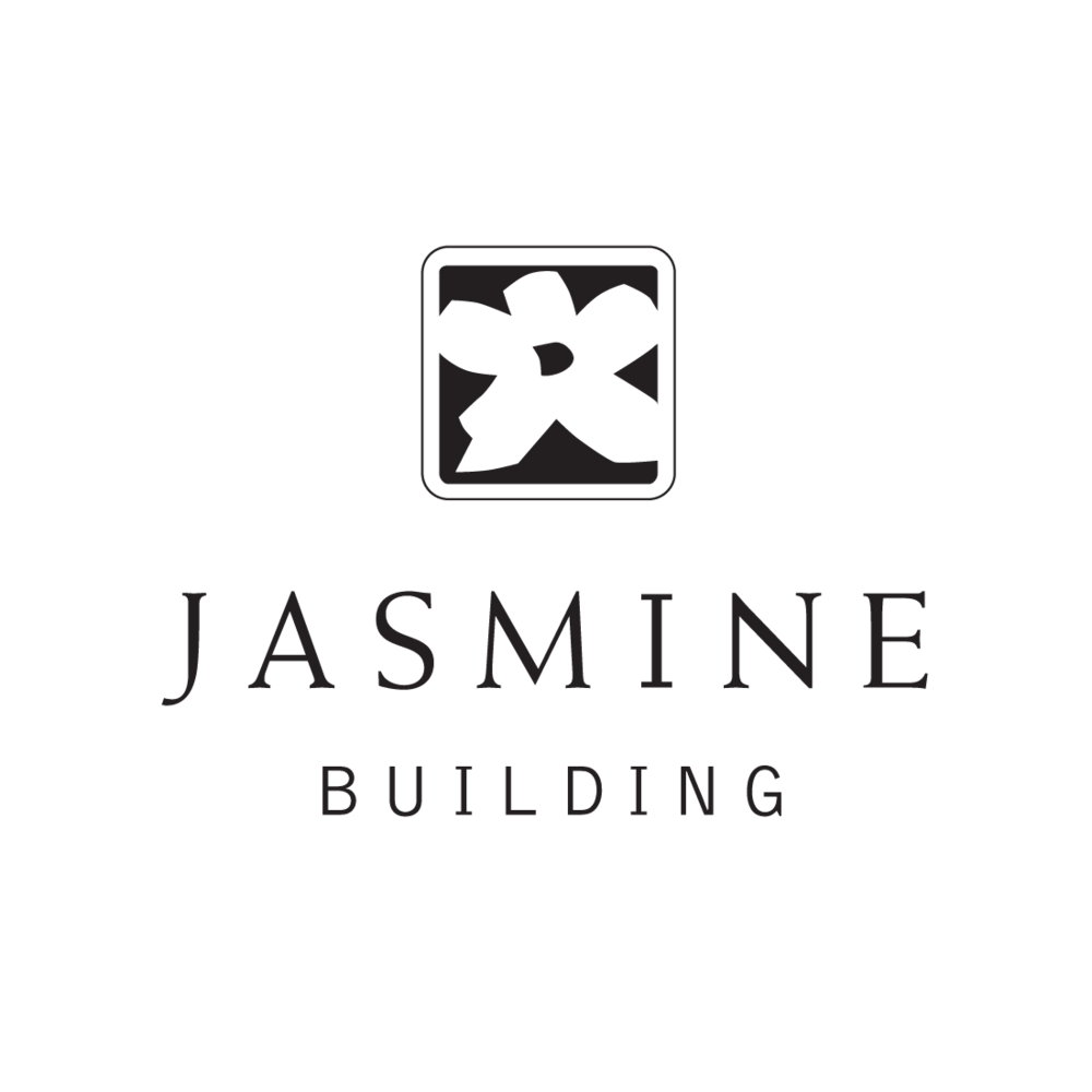 Jasmine Building of Ashland, Oregon logo by Mark Mularz, Fetch Design