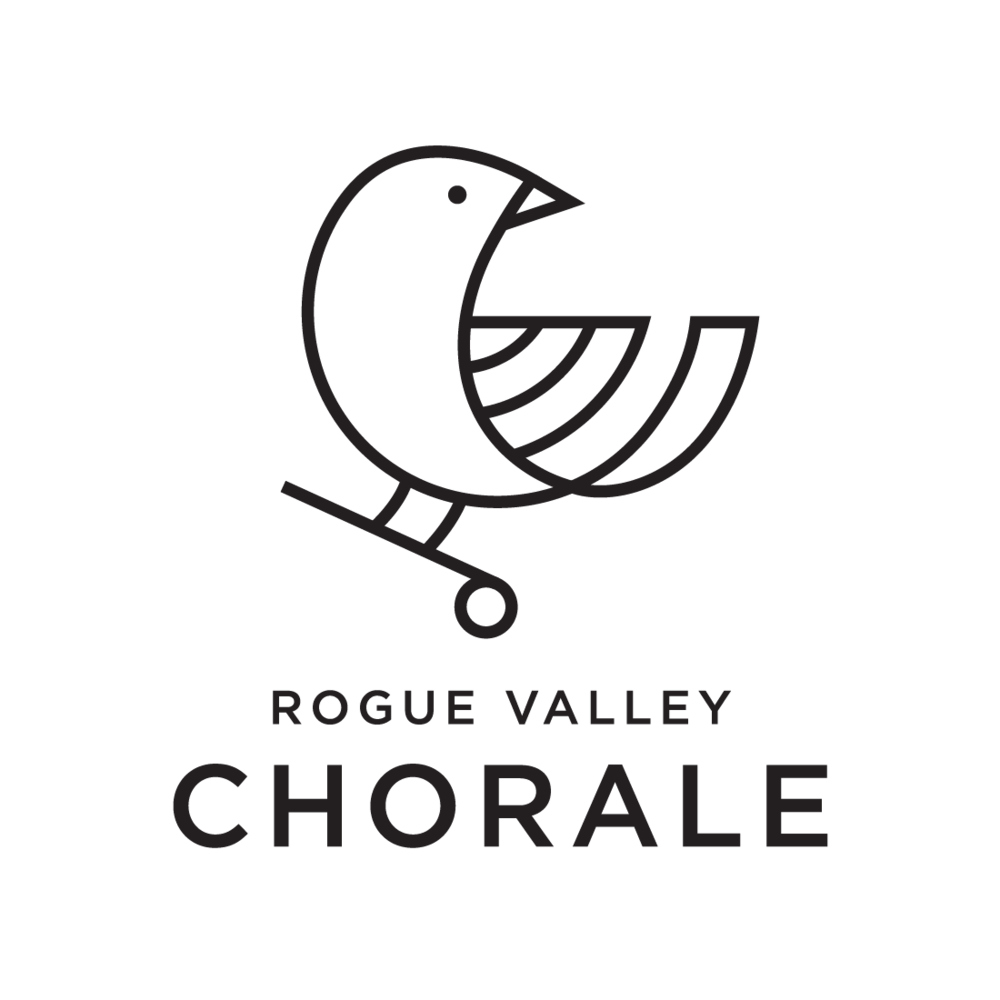 Rogue Valley Chorale logo by Mark Mularz, Fetch Design