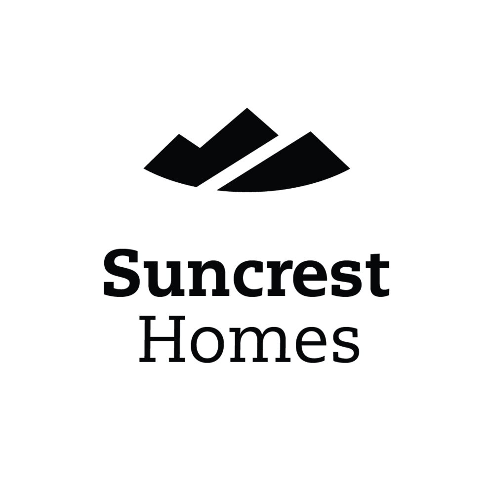 Suncrest Homes of Talent, Oregon logo by Mark Mularz, Fetch Design