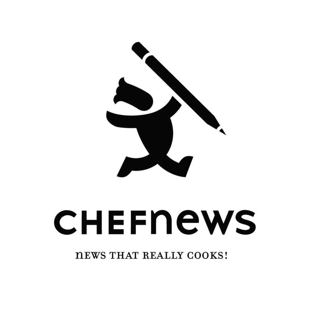 Chef News logo by Mark Mularz, Fetch Design