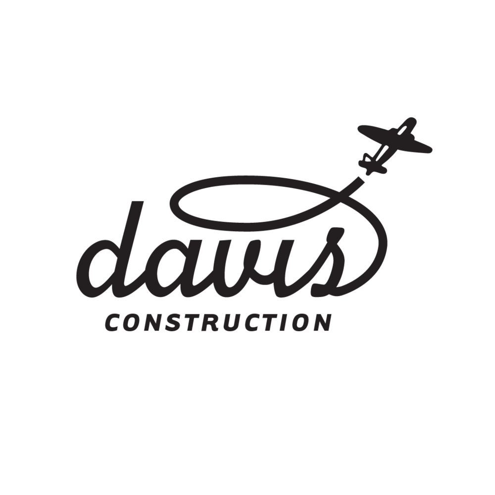 Davis Construction of Ashland, Oregon logo by Mark Mularz, Fetch Design
