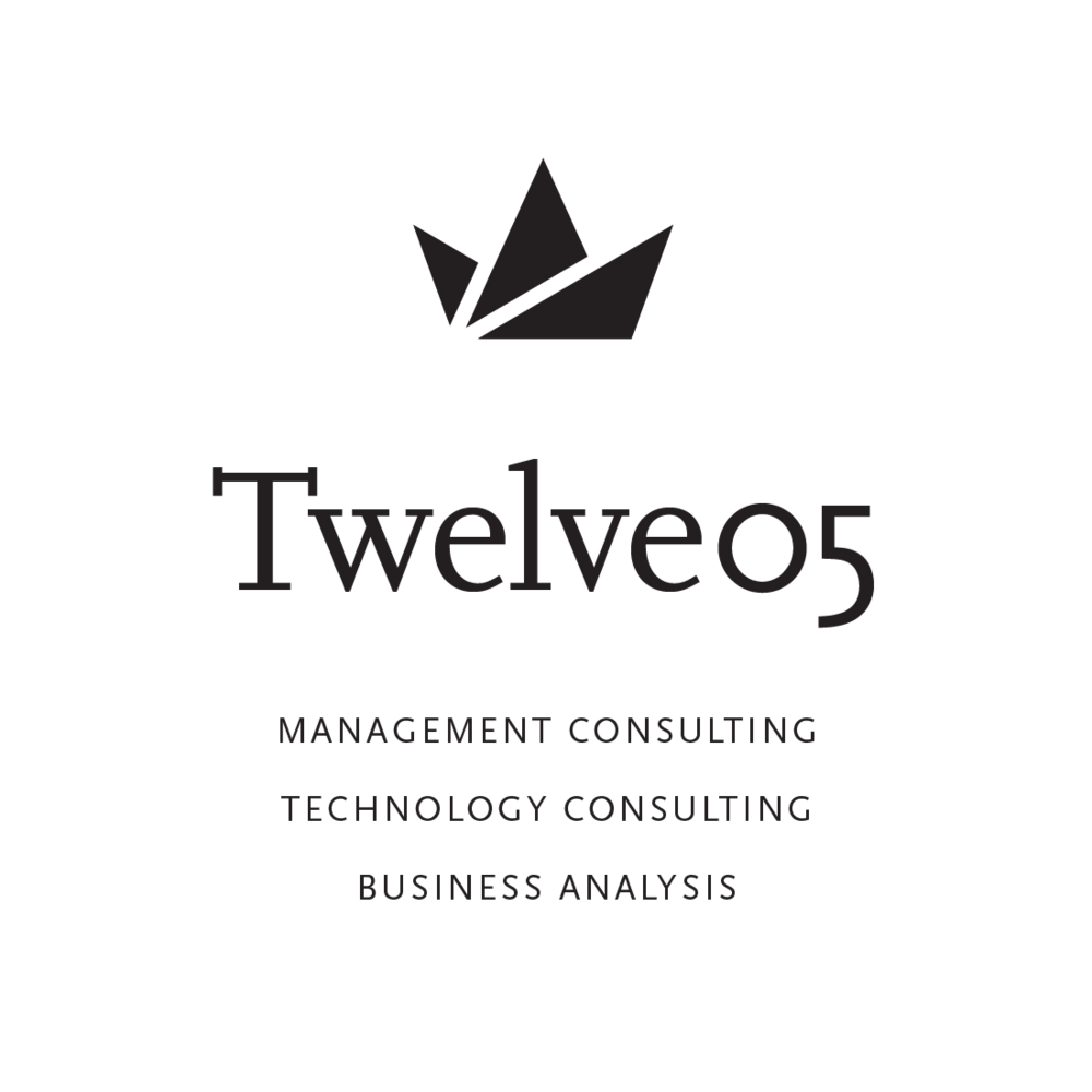 Twelve05 Management Consulting of Portland, Oregon logo by Mark Mularz, Fetch Design