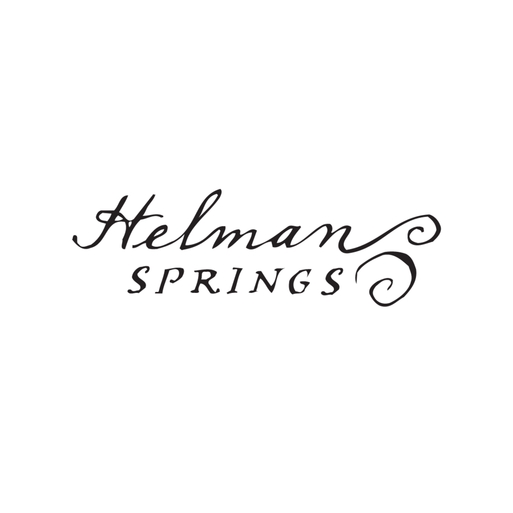 Helman Springs of Ashland, Oregon logo by Mark Mularz, Fetch Design