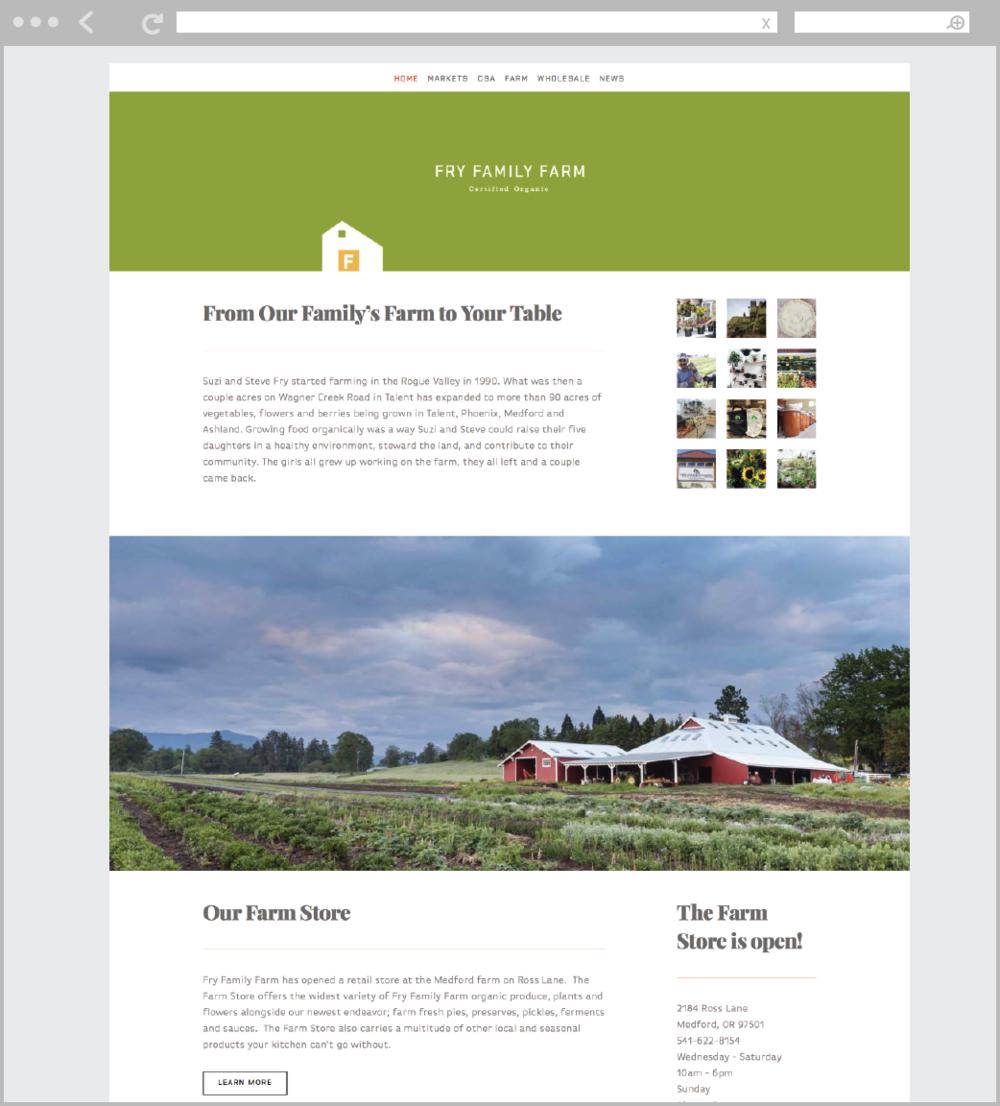 Fry Family Farm website by Mark Mularz, Fetch Design